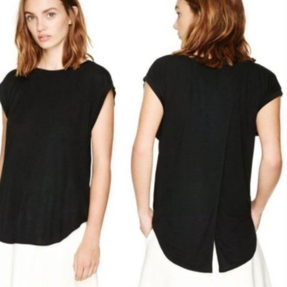"""Wilfred """"Anvers"""" Linen Blend Top w/Open Back"""